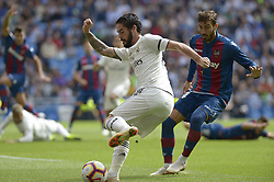October 20, 2018 - Madrid, Madrid, Spain - Isco of Real Madrid fight the ball with Rober Pier of Levante during a match for the Spanish League between Real Madrid and Levante at Santiago Bernabeu Stadium on October 20, 2018 in Madrid, Spain. (Credit Image: © Patricio Realpe/NurPhoto via ZUMA Press)