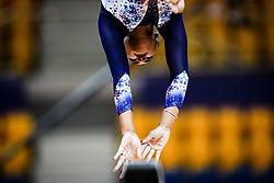 October 28, 2018 - Doha, Quatar - Marine Boyer of France   during  Balancing Beam qualification at the Aspire Dome in Doha, Qatar, Artistic FIG Gymnastics World Championships on 28 of October 2018. (Credit Image: © Ulrik Pedersen/NurPhoto via ZUMA Press)