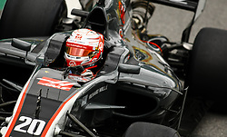 November 11, 2017 - Brazil - SAO PAULO, SP - 11.11.2017: QUALIFYING PARA GP F1 - In the photo the pilot, Kevin Magnussen, team HAAS, during free practice in the part of this morning. Classifying training day on Saturday (11), for the Brazilian Formula 1 Grand Prix, which will take place on Sunday (12) at the Jose Carlos Pace racetrack in Interlagos. (Credit Image: © Fotoarena via ZUMA Press)