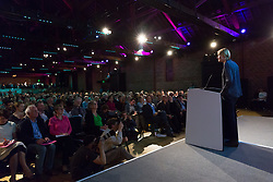 © Licensed to London News Pictures. 15/05/2017. LONDON, UK.  SOPHIE WALKER, leader of the Women's Equality Party speaking to the audience at the Progressive Alliance launch in London. The Progressive Alliance is a cross political party group who are campaigning against the Tories and encouraging tactical voting in the general election.  Photo credit: Vickie Flores/LNP