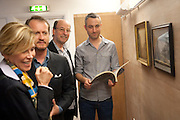 THEA WESTREICH; ETHAN WAGNER; PABLO BRONSTEIN, Pablo Bronstein, Sketches for Regency Living. Discussion and lunch. ICA. The Mall. London. 7 June 2011. <br /> <br />  , -DO NOT ARCHIVE-© Copyright Photograph by Dafydd Jones. 248 Clapham Rd. London SW9 0PZ. Tel 0207 820 0771. www.dafjones.com.