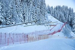 18.01.2017, Hahnenkamm, Kitzbühel, AUT, FIS Weltcup Ski Alpin, Kitzbuehel, Abfahrt, Herren, 2. Training, Streckenbesichtigung, im Bild Steilhang Ausfahrt // Steep slope exit during the course inspection for the 2nd practice run of men's Downhill of FIS Ski Alpine World Cup at the Hahnenkamm in Kitzbühel, Austria on 2017/01/18. EXPA Pictures © 2017, PhotoCredit: EXPA/ Johann Groder