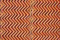 Inde, état de l'Uttar Pradesh, Fatehpur Sikri, ancienne capitale de l'empire moghol, classée Patrimoine Mondial de l'UNESCO, cour de Pachhisi, detail // India, Uttar Pradesh, Unesco World heritage, Fatehpur Sikri, detail