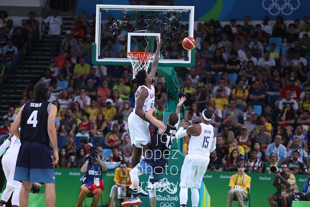 RIO DE JANEIRO, BRAZIL. AUGUST 15, 2016. Carioca Arena 1. Olympic Games: Tournament for Men (BRA), USA v Argentina. Quarter-Finals. (Mandatory photo credit: Jon Lopez).