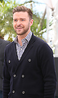 Actor and singer Justin Timberlake at the Coen brother's new film 'Inside Llewyn Davis' photocall at the Cannes Film Festival Sunday 19th May 2013