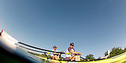 Munich, GERMANY,   GBR W2X. right. Katherine GRAINGER and Anna WATKIN,  prepare for a training session. . 2012 World Cup III on the Munich Olympic Rowing Course,  Thursday  14/06/2012  [Mandatory Credit Peter Spurrier/ Intersport Images]..