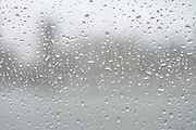 a window with rain drops