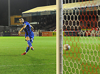 Football - 2021 / 2022 EFL Carabao Cup - Round One - Crawley Town vs Gillingham - The People's Pension Stadium - Tuesday, 10th August 2021<br /> <br /> Harvey Lintott of Gillingham scores the winning goal in the penalty shoot out <br /> <br /> Credit : COLORSPORT/Andrew Cowie<br /> <br /> <br /> <br /> Credit : COLORSPORT/Andrew Cowie
