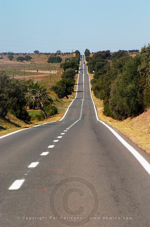 a straight road alentejo portugal