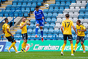 Gillingham FC forward Vadaine Oliver (19) in action during the EFL Cup match between Gillingham and Southend United at the MEMS Priestfield Stadium, Gillingham, England on 5 September 2020.