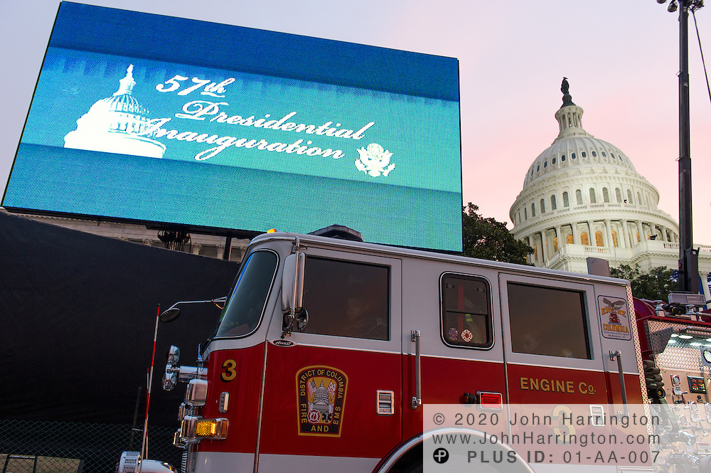 Washington DC Fire and EMS Engine Co 3 at the 57th Presidential Inauguration of President Barack Obama at the U.S. Capitol Building in Washington, DC January 21, 2013.
