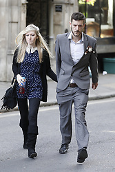© Licensed to London News Pictures.11/04/2017.London, UK. CONNIE YATES AND CHRIS GARD arrive at The Royal Courts of Justice in London where a High Court judge is due to rule on whether doctors can withdraw life-support treatment to their son, Charlie, who suffers from a rare genetic condition. Doctors at Great Ormond Street Hospital in London say eight-month-old Charlie should be left to die in dignity, but his parents have raised £1.2 million for specialist treatment in America.Photo credit: Peter Macdiarmid/LNP