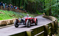 Boness Revival hillclimb motorsport event in Boness, Scotland, UK. The 2019 Bo'ness Revival Classic and Hillclimb, Scotland's first purpose-built motorsport venue, it marked 60 years since double Formula 1 World Champion Jim Clark competed here.  It took place Saturday 31 August and Sunday 1 September 2019. 14 John Hunter Riley TT Sprite