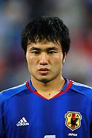 "12/08/04 - THESSALONIKI - GREECE -  - JAPAN OLYMPIC MENS FOOTBALL TEAM -  <br />First match Group B - JAPAN () Vs. PARAGUAY -<br />At the THESSALONIKI ""KAFTATZOGLIO STADIUM"".<br />Min.= '   Japan player N*6 KONNO Yasuyuki<br />© Gabriel Piko / Piko-Press"