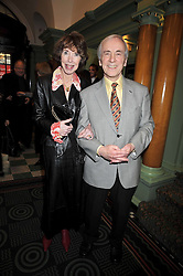 ANDREW SACHS and his wife MELODY at the 2009 Oldie of The Year Award lunch held at Simpson's in The Strand, London on 24th February 2009.