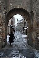 snow in Marvejols, massif central  Marvejols  France