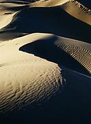 Patterns in sand, Eureka Sand Dunes, Eureka Valley, Death Valley National Park, California.