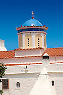 The 17th century Greek Orthodox Monatery of Chrysoleontissa, Aegins, Greek Saronic Islands..<br /> <br /> If you prefer to buy from our ALAMY PHOTO LIBRARY  Collection visit : https://www.alamy.com/portfolio/paul-williams-funkystock/aegina-greece.html <br /> <br /> Visit our GREECE PHOTO COLLECTIONS for more photos to download or buy as wall art prints https://funkystock.photoshelter.com/gallery-collection/Pictures-Images-of-Greece-Photos-of-Greek-Historic-Landmark-Sites/C0000w6e8OkknEb8