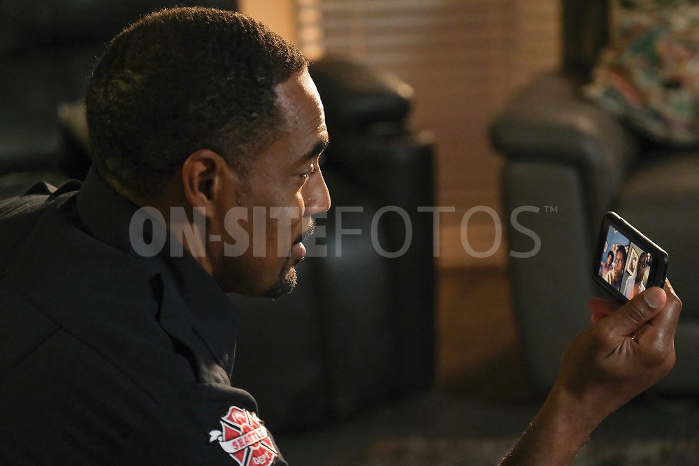 """STATION 19 - """"Get Up, Stand Up"""" – In the wake of national outcry after the tragic murder of an unarmed Black man, Maya brings in Dr. Diane Lewis to grief counsel the team on a new episode of """"Station 19,"""" THURSDAY, APRIL 22 (8:00-9:00 p.m. EDT), on ABC. (ABC/Ron Batzdorff)<br /> JASON GEORGE"""