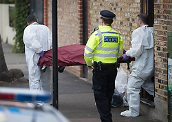 FILE PICTURE © Licensed to London News Pictures. 21/09/2017. London, UK. A body is removed from a house belonging to Sabrina Kouider and her partner Ouissem Medouni where police and the fire brigade attended and found the burnt body of their nanny Sophie Lionnet in the garden in Wimbledon, south London. Kouider and Medouni, who are both French nationals, deny murder but have admitted perverting the course of justice by burning the body. Photo credit: Peter Macdiarmid/LNP