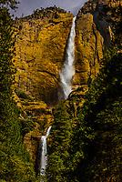 Upper and Lower Yosemite Falls, Yosemite National Park, California USA.