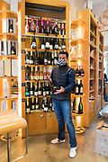 wine store owner during Covid 19 crisis France Limoux April 2020