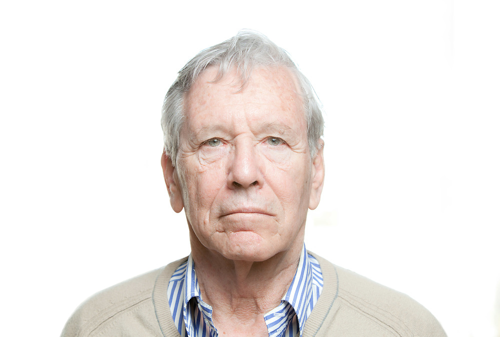 Amos Oz an Israely writer, in his house in Tel Aviv<br />