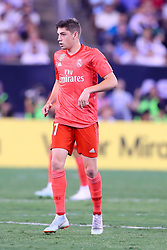 August 7, 2018 - East Rutherford, NJ, U.S. - EAST RUTHERFORD, NJ - AUGUST 07:  Real Madrid midfielder Federico Valverde (37) during the second half of the International Champions Cup game between Real Madrid and AS Roma on August 7, 2018, at Met Life Stadium in East Rutherford, NJ.  (Photo by Rich Graessle/Icon Sportswire) (Credit Image: © Rich Graessle/Icon SMI via ZUMA Press)