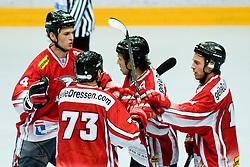 29.06.2010, Löfbergs Lila Arena, Karlstad, SWE, IIHF In Line Hockey World Championships 2010, Finland (FIN) vs Austria (AUT), im Bild Austrian team celebrating scoring first goal at Game 5 of IIHF In-Line Hockey. EXPA Pictures © 2010, PhotoCredit: EXPA/ Sportida/ Matic Klansek Velej +++ Slovenia OUT +++