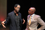 May 7, 2012- New York, NY United States: - (L-R) Actor Blair and Dr, Khalil Gibran Muhammad, Director, The Schomburg Center attend the Theater Talks at the Schomburg: A Streetcar Named Desire held at the Schomburg Center for Research in Black Culture, part of the New York Public Library on May 7, 2012 in Harlem Village, New York City. The Schomburg Center for Research in Black Culture, a research unit of The New York Public Library, is generally recognized as one of the leading institutions of its kind in the world. For over 80 years the Center has collected, preserved, and provided access to materials documenting black life, and promoted the study and interpretation of the history and culture of peoples of African descent.  (Photo by Terrence Jennings) .