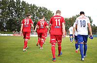 Fotball , 17. september 2016 , Eliteserien , PostNord-ligaen avd 3 , Vidar - Vålerenga 2<br /> Vålerenga 2 og Vidar før kampen.<br /> Foto: Andrew Halseid Budd , Digitalsport