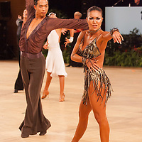 Shinsuke Kanemitsu and Natsuko Yoshida from Japan perform their dance during the UK Open dance competition held at the International Centre,  Bournemouth in United Kingdom. Tuesday, 22. January 2008. ATTILA VOLGYI