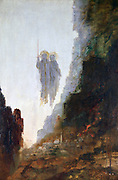 The Angels of Sodom'. OIl on canvas Gustave  Moreau (1826-1899) French painter.  The angels sent by God to the doomed city of Sodom and met by Lot. Bible Genesis