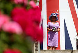 Racegoers arrive for day five of Royal Ascot at Ascot Racecourse.