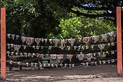 Drying fish<br /> Lethem<br /> Rupununi<br /> GUYANA<br /> South America