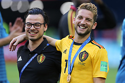 July 14, 2018 - Saint Petersburg, Russia - Dries Mertens (R) of the Belgium national football team vie reacts after the 2018 FIFA World Cup Russia 3rd Place Playoff match between Belgium and England at Saint Petersburg Stadium on July 14, 2018 in St. Petersburg, Russia. (Credit Image: © Igor Russak/NurPhoto via ZUMA Press)