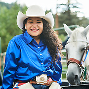 Cowgirl at the Steamboat Springs Colorado Rodeo.