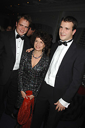 Left to right, JP MAGNIER, MARIA NIARCHOS and MV MAGNIER at the 17th annual Cartier Racing Awards 2007 held at the Four Seasons Hotel, Hamilton Place, London on 14th November 2007.<br />