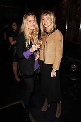 Left to right, POPPY SAXTON-WAINWRIGHT and FLORENCE GARRETT at the Tatler Little Black Book Party held at Tramp, 40 Jermyn Street, London on 3rd November 2010.