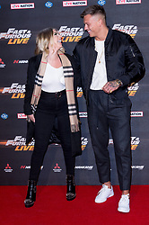 © Licensed to London News Pictures. 19/01/2018. London, UK. OLIVIA BUCKLAND and ALEX BOWEN attends the world premiere of Fast & Furious live show at the O2.  Cars will perform stunts and scenes capturing the spirit of the film series. Photo credit: Ray Tang/LNP