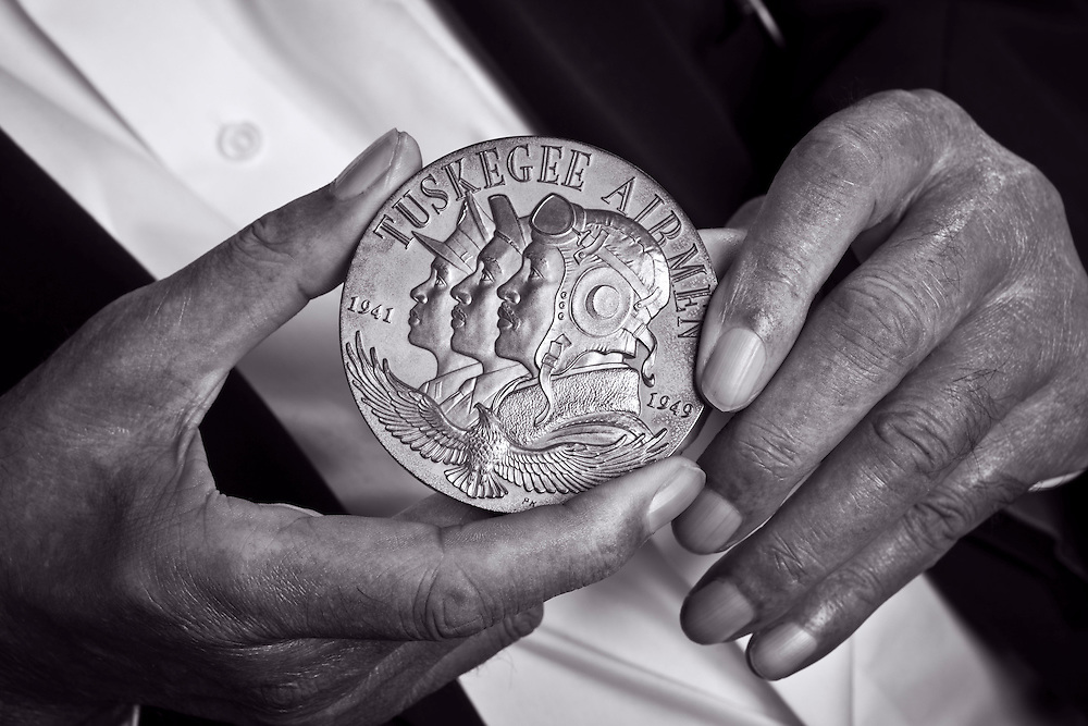 The Congressional Gold Medal awarded to the Tuskegee Airmen on 29 March, 2007 by President George W. Bush.