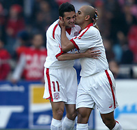 Fotball<br /> African Nations Cup 2004<br /> Afrika mesterskapet 2004<br /> Foto: Digitalsport<br /> NORWAY ONLY<br /> <br /> FINAL - 040214 <br /> TUNISIA v MOROCCO <br /> SANTOS / MEHDI NAFTI (TUN *** Local Caption *** 40001044