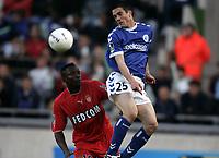 Fotball<br /> Frankrike 2003/04<br /> Strasbourg v Monaco<br /> 12. mai 2004<br /> Foto: Digitalsport<br /> NORWAY ONLY<br /> <br /> GUILLAUME LACOUR (STR) / SHABANI NONDA (MON)