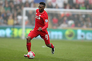 Daniel Sturridge of Liverpool in action.Barclays Premier league match, Swansea city v Liverpool  at the Liberty Stadium in Swansea, South Wales on Sunday 1st May 2016.<br /> pic by  Andrew Orchard, Andrew Orchard sports photography.