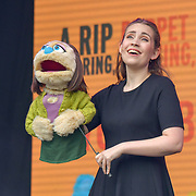 Avenue Q performs at West End Live 2019 - Day 2 in Trafalgar Square, on 23 June 2019, London, UK.