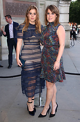 Princess Beatrice and Princess Eugenie attending the V and A Summer Party held at the Victoria & Albert Museum, London. Picture Credit should read Doug Peters