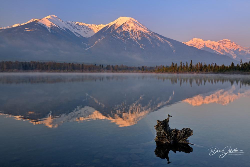 Sundance Range reflected in Third Vermilion Lake, Banff NP, Alberta, Canada