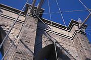Brooklyn Bridge bricks and suspension wires