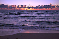 View of the Beach at Sunrise in Miami Beach