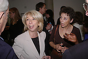 Helen Worth, Carrie Wilkie,. Cocktail party celebrating Born Free Foundation 21 years anniversary.  Royal Geographical Society, Kensington Gore. 14 march 2005. ONE TIME USE ONLY - DO NOT ARCHIVE  © Copyright Photograph by Dafydd Jones 66 Stockwell Park Rd. London SW9 0DA Tel 020 7733 0108 www.dafjones.com